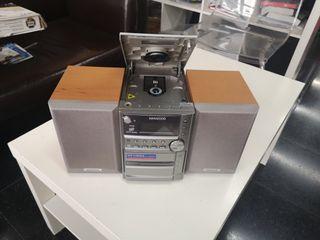 equipo musica con cassette y cd. hifi kenwood