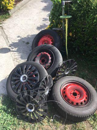 4 ruedas de coche 165 70 14 (4tornillos)
