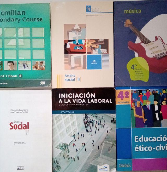 LIBROS DE SECUNDARIA.