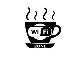 Pegatina wifi taza cafetería vinilos decorativos