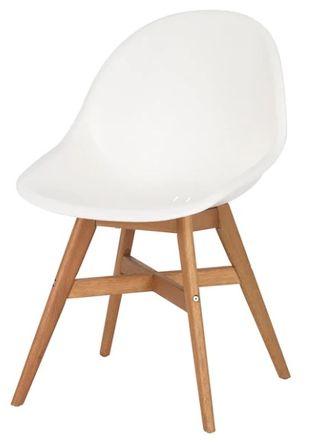DOS SILLAS blancas patas de madera