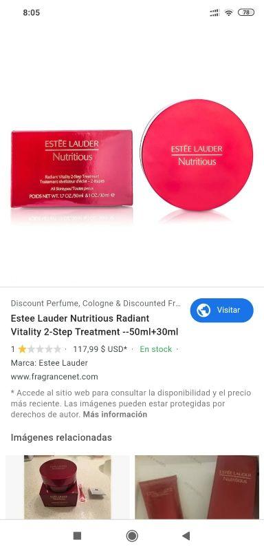 Tratamiento Ester lauder desintoxicante hidratante