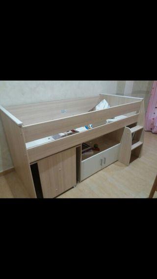 Cama - escritorio infantil juvenil