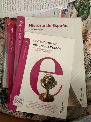 Libros de primero y segundo de bachiller