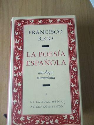 La poesía española, antología comentada