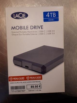 disco duro externo lacie 4tb