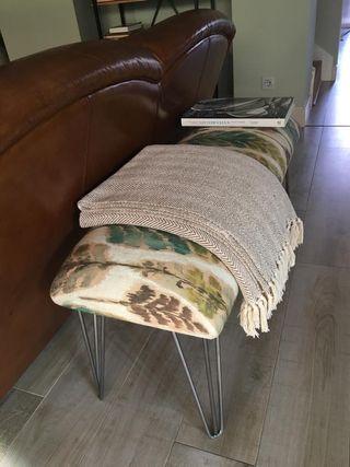 Banco tapizado sofá salón