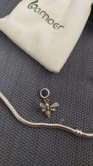 colgante abeja Pandora plata 925.