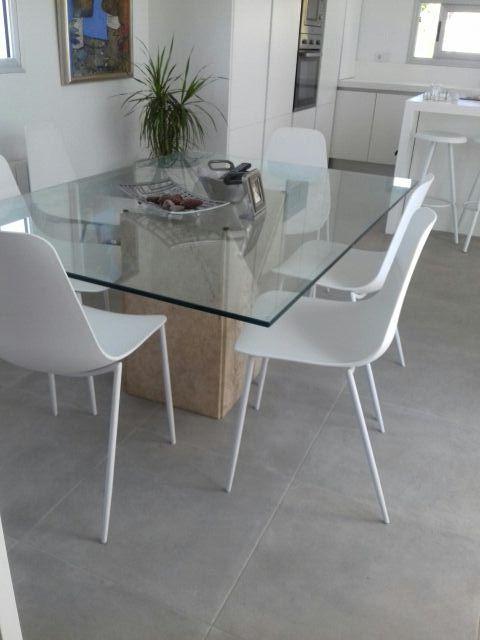 Cristal biselado tapa de mesa