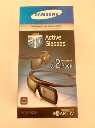Pack de 2 gafas activas en 3D Samsung