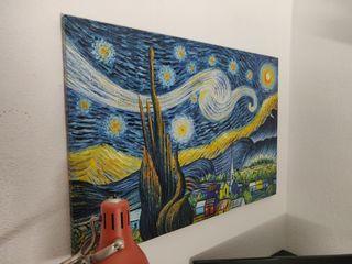 """Cuadro óleo """"Noche estrellada"""" pintado a mano"""