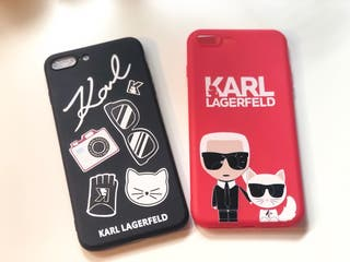 Carcasa roja para iPhone 8 Plus de Karl Lagerfeld