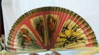 decoración. Abanico chino