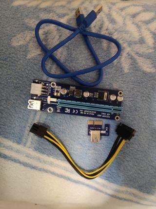 PCI Express 16x tarjeta gráfica USB