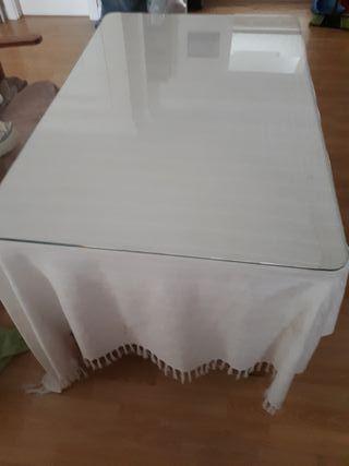 cristal mesa camilla ,1,10x 0,70,mesa de regalo