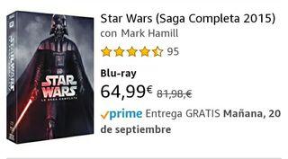 Pack saga La Guerra de las Galaxias Bluray