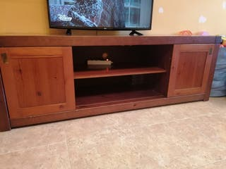 aparador de TV, madera maciza