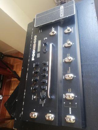Pedalera para guitarra Pod HD 400