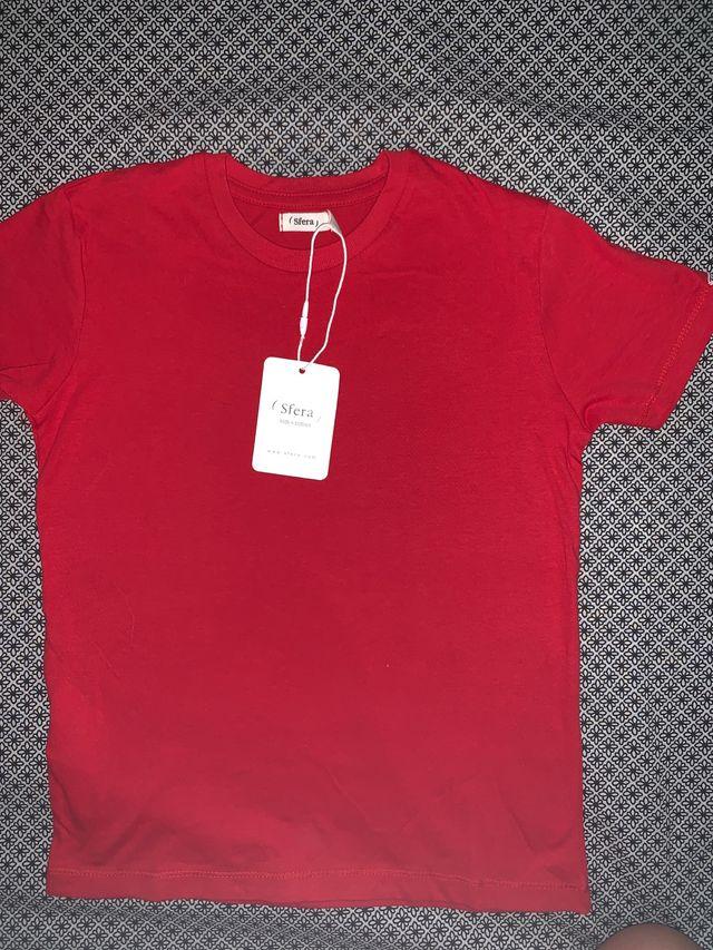 Pack 4 camisetas NUEVAS SFERA talla 5-6 años