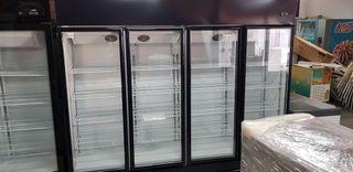 armário refrigerado 4 puertas de cristal