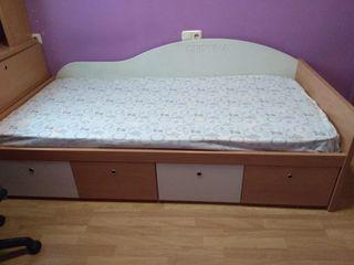 cama juvenil con cajones