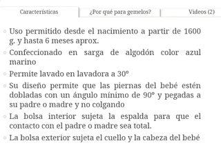 Mochila portabebés gemelar marca Weego