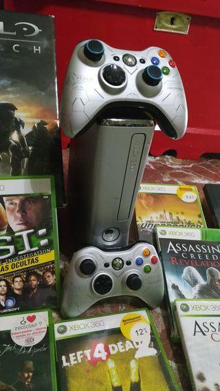 Xbox 360 con dos mandos y + de 50 juegos originale