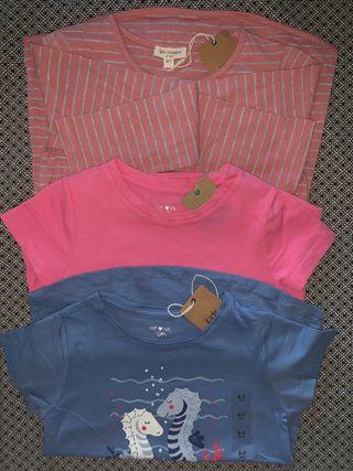 Pack 3 camisetas NUEVAS talla 6-7 años