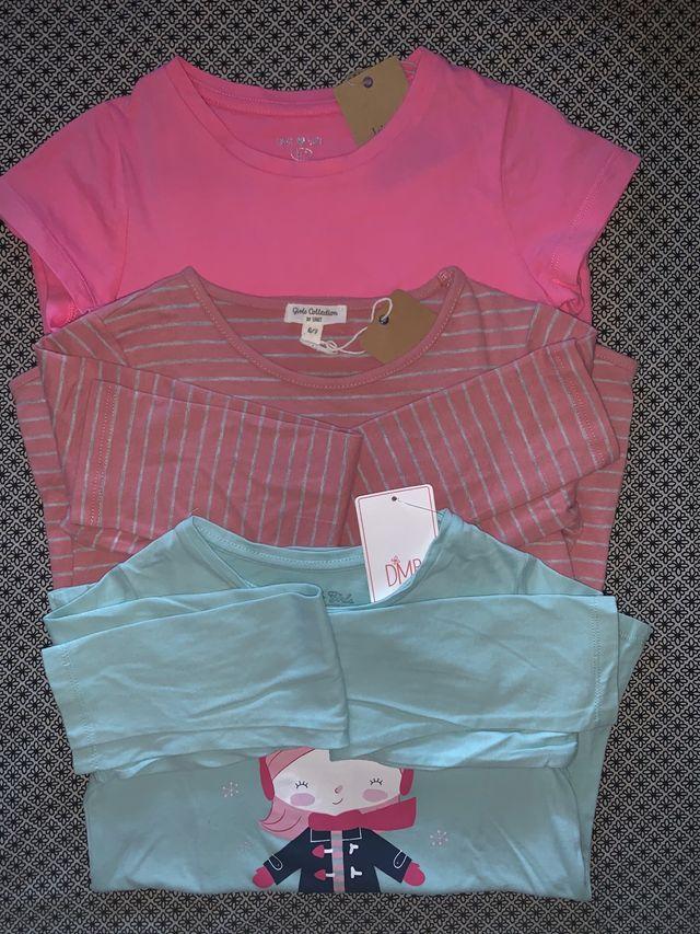 Pack 3 camisetas NUEVAS talla 6/7 años