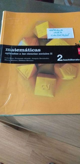 libro 2 bachillerato matemáticas sociales sm savia