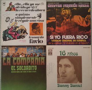 """4 discos de vinilo 7"""" variados"""