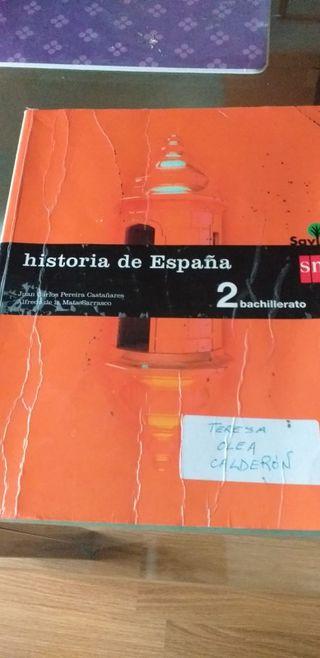libro 2bachilkerato sm savia historia de España