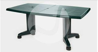 Mesa de jardín plástico extensible