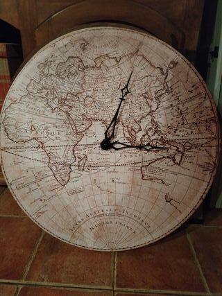 Reloj de pared Mapa Mundo NUEVO