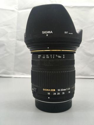 Objetivo SIGMA DC 18-50mm 2.8 EX MACRO ( Pentax )