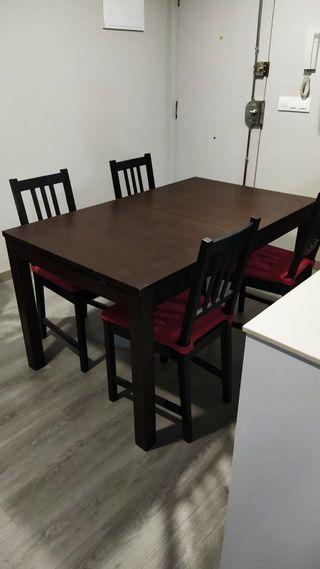 Mesa extensible (+4 sillas)