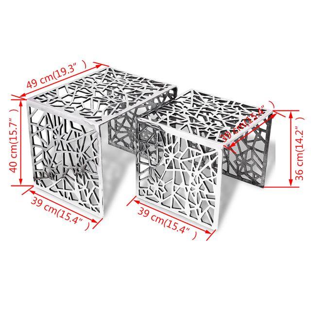 vidaXL Mesa auxiliar cuadrada aluminio 243508
