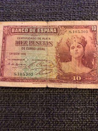 10 pesetas antiguas
