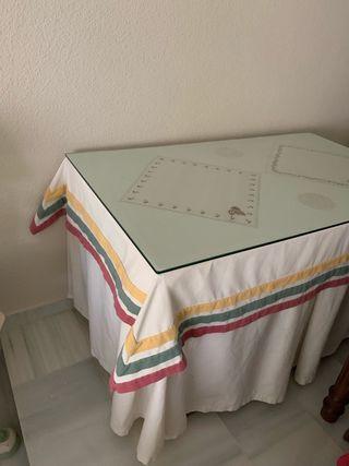 Mesa de camilla rectangular