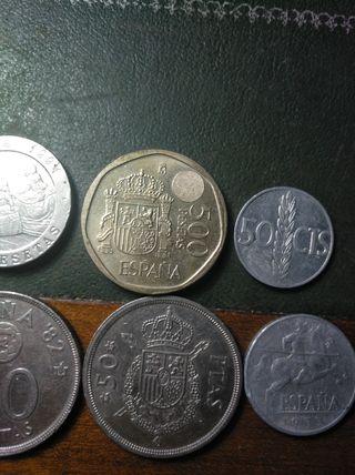 Céntimos y pesetas de 1870 a 2001