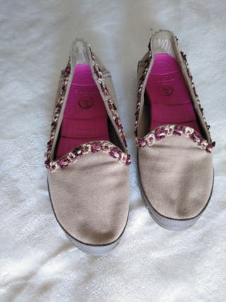 zapatillas Crocs, beige talla 7