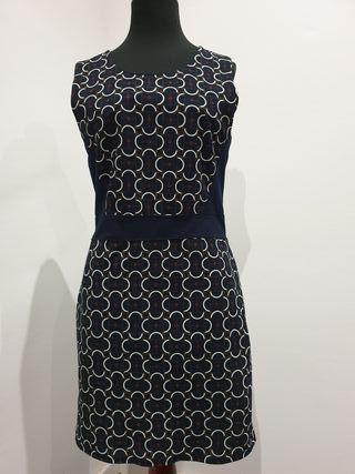 vestido azul marino talla s