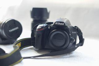 Nikon d3200 + 55-200 + Mochila y trípode