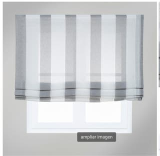 Estor raya ancha gris 150X175