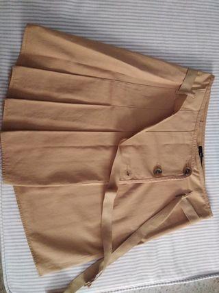 falda cruzada zara