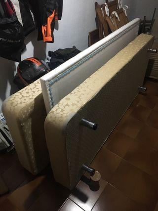 2 canapés tapizados de 80x185 + cabecero