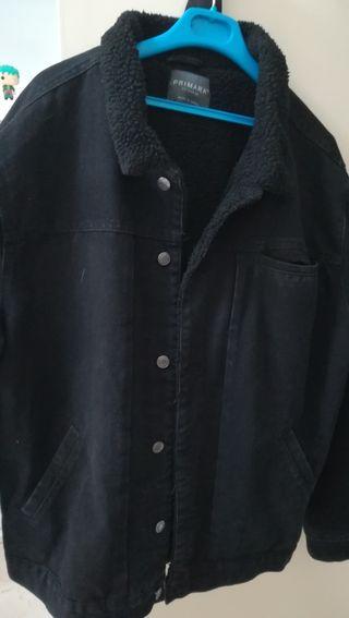 chaqueta vaquera negra de borrego xxl
