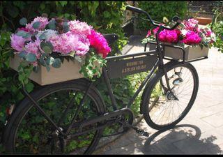 Bicicleta decoración publicidad
