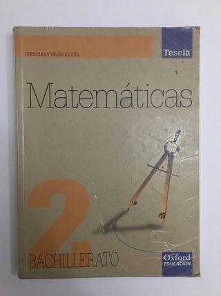 Libro matemáticas 2 bachillerato Oxford Tesela