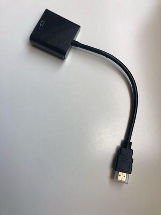 Cable adaptador convertidor de HDMI a VGA hembra